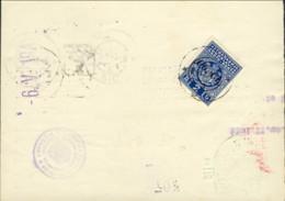 """1941-Lubiana Vaglia Postale Con Segnatasse 2d.azzurro Soprastampato """"Co.Ci.""""da Ljubljana - Lubiana"""