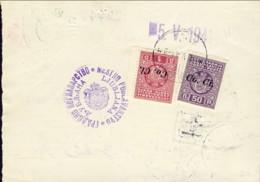 """1941-Lubiana Vaglia Postale Con Segnatasse 50p.+1d.soprastampati """"Co.Ci.""""da Ljubljana - Occupation 2ème Guerre Mond. (Italie)"""
