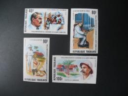 Timbre ND non Dentelé Neuf ** MNH - Imperf    Célébrités  Albert Schweitzer  Togo  N° 849 Et PA 256 à 258 - Albert Schweitzer