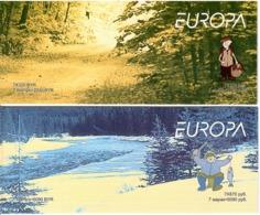 Belarus 2004 .EUROPA . 2 Booklets, Each Of 7 + Label (Mushrooms,Fish).  Michel # 543-44 MH - Bielorussia