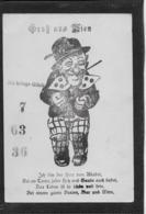 AK 0366  Gruß Aus Wien - Herr Von Adabei Bringt Glück / Glücklos-Karte Ca. Um 1910 - Humor