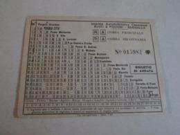 Biglietto Bus PERGOLA CITTA -PESARO Autolinee Fratelli Bucci E Piccioni   40/50/60 - Europa