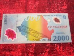 Prima Bancnotă A Bank Of Europe în Polimerul 1er Billet De Banque D'Europe En Polymère«2000 Lei Roumanie»NEUF:NOTE BANK - Rumania