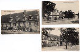 FOURS LOTS 3 CARTES HOTEL LA RENAISSANCE LA GENDARMERIE LA PLACE OUEST - France