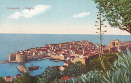 Dubrovnik (Ragusa) * Hafen, Segelboot, Schiffe, Festung, Stadt, Kaktus * Kroatien * AK2045 - Kroatië