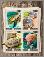 CENTRALAFRICA 2019 MNH Turtles Schildkröten Tortues M/S - OFFICIAL ISSUE - DH1947 - Schildpadden