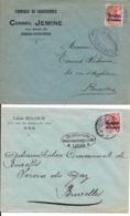 2 X Lettre Deutsches Reich  - DISON-VERVIERS Chaussure Jemine   +  ANS  Léon Rocour - WW I