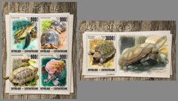 CENTRALAFRICA 2019 MNH Turtles Schildkröten Tortues M/S+S/S - IMPERFORATED - DH1947 - Schildpadden