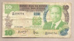 Kenya - Banconota Circolata Da 10 Scellini P-20c - 1984 #18 - Kenia