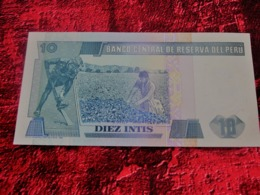 PERU Pérou, 10 Intis Type Ricardo Palma, 26 Juin 1987, Alphabet Billet De Banque NEUF:NOTE BANK - Perú