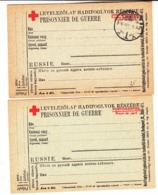 Russie   Lot De 2 Cartes Croix  Rouge  Guerre 1914/18 - Verzamelingen