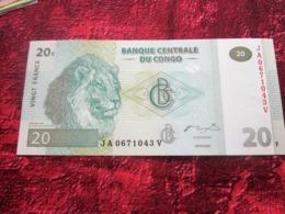 BANQUE CENTRALE DU CONGO  20 F - VINGT FRANCS - 31-07-2007 Billet De Banque NEUF:NOTE BANK - Congo