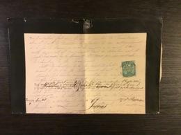 SAGE N°75 Obl. T.18 MONTEREAU  SEINE ET MARNE / Lettre (doc Sous Bande) De 1882. TB - Marcofilie (Brieven)