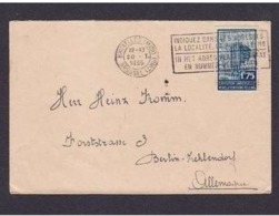 BELGIO -   1935 LETTERA SPEDITA IN GERMANIA CON VALORE FR 1.75 PROPAGANDA EXPO UNIV.  (SERIE DEL 1934) - 1935 – Brussels (Belgium)
