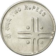 Monnaie, INDIA-REPUBLIC, 2 Rupees, 2006, TTB, Stainless Steel, KM:326 - India