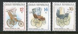 CZECH REPUBLIC 2004 Antique Perambulators MNH / **. Michel 413-15 - Czech Republic