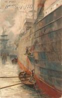 """M.Zeno Diemer. In Port"" Tuck Connoisseur On The Continent Ser.PC # 2658 - Tuck, Raphael"
