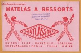 BUVARD Illustré - BLOTTING PAPER - MATLASSOR - Matelas à Ressorts - Galeries Du Meuble CARPENTIER DUCOURANT Carvin - Buvards, Protège-cahiers Illustrés