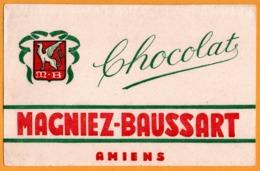BUVARD Illustré - BLOTTING PAPER - Chocolat MAGNIEZ BAUSSART - Amiens - Chocolat