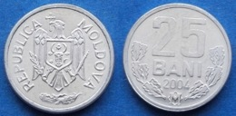 MOLDOVA - 25 Bani 2004 KM# 3 Republic Since 1991 - Edelweiss Coins - Moldavia