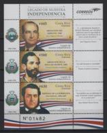 Costa Rica (2019) - Block -  /  History - Heritage - Flag - Flags - Independence - Kulturen