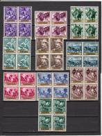 España Nº 1566 Al 1575 En Bloque De Cuatro - 1961-70 Nuevos & Fijasellos