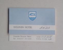 Lebanon Liban Beirut Beyrouth Dolphin Hotel Advertising Publicité 70's - Publicidad
