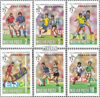 Ungarn 4087A-4092A (kompl.Ausg.) Postfrisch 1990 Fußball-WM In Italien - Ungebraucht