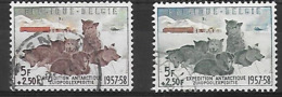 OCB Nr 1030 + 1031 Zuidpool Antarctique Gerlache Dog Hond Chien - Belgique