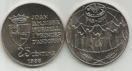 Andorra 25 Santim 1995. UNC FAO - Andorra