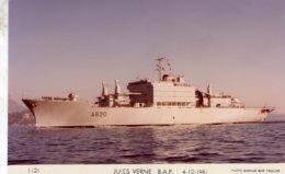 'Jules Verne' - Marine Nationale Francaise  - Batiment Atelier Polyvalent 1981  -   Marius Bar Carte Postale - Warships