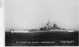 'Richelieu' - Marine Nationale Francaise  -  Batiment De Ligne -   Marius Bar Carte Postale - Guerra