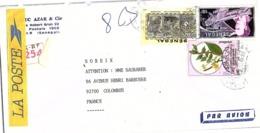 LETTRE. COVER. SENEGAL. CAFE + MERMOZ + HAITI. 640F REGISTERED DAKAR TO FRANCE   / 3 - Senegal (1960-...)