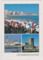 85 - LES SABLES D'OLONNE - Multivues: La Plage, Le Chaume, Tour D'Arundel - éd. COMBIER - 1995 - Sables D'Olonne