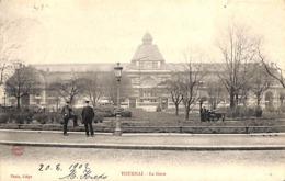 Tournai - La Gare (animée, Phot A B & C, 1902) - Tournai