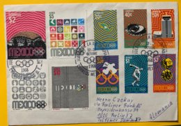 9207 - Série Sur Lettre Circulée De Mexico Pour Berlin - Summer 1968: Mexico City