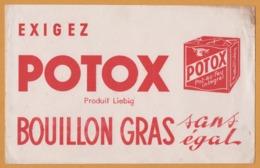 BUVARD Illustré - BLOTTING PAPER - POTOX Produit Liebig - Bouillon Gras Sans égal - Pot Au Feu Intégral - Alimentare