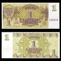 Латвия 1 рубль 1992 года  - UNC - Letland