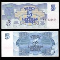 Латвия 5 рублей 1992 года  - UNC - Letland