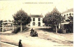 SAINT-MARCELLIN - La Gare Et Le Jeu De Boules - Autres Communes
