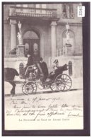 GENEVE - DEVANT L'HOTEL D'ANGLETERRE - ARRIVEE DE ANDRE GIRON ET DE LA PRINCESSE DE SAXE - TB - GE Ginevra