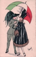 Mary, Couple En Costume Et Ombrelle, Litho (3.7.17) - Altre Illustrazioni