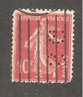 Perforé/perfin/lochung France No 138 SG Société Générale (93) - France