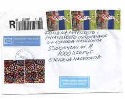 Croatia Football Luka Modric 3 Stamp - Croazia