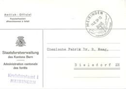 "Motiv Karte  ""Kreisforstamt, Meiringen""          1959 - Switzerland"