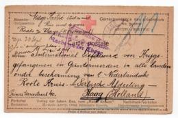 1917 WWI, AUSTRIA, RAABS AN DER THAYA, SERBIAN POW CARD SENT TO  HAAG, HOLLAND, CENSORED - Storia Postale