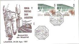 MATASELLOS  1991   LINARES  TEMA TRENES - 1931-Hoy: 2ª República - ... Juan Carlos I