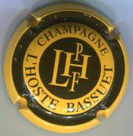 CAPSULE-CHAMPAGNE L'HOSTE N°13 Jaune & Noir - Lanson