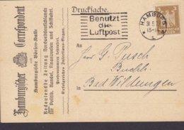 Deutsches Reich HAMBURGER CORRESPONDENT Börssen-Halle Zeitung Newspaper HAMBURG 1927 Card Karte BAD WILDUNGEN - Briefe U. Dokumente