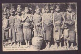 CPA Laos Asie Indochine Type Femme Women Non Circulé Raquez Enfant Nu - Laos
